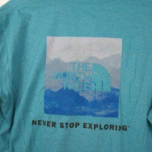 THE NORTH FACE  T Shirt Men's Medium Blue
